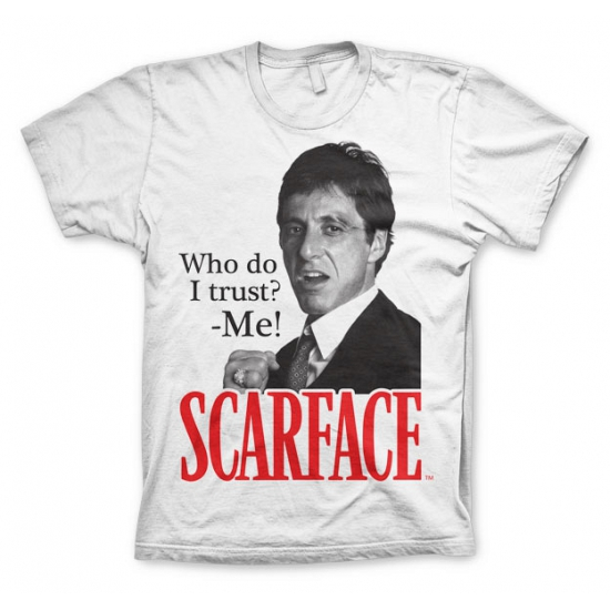 Heren T shirt Scarface Who Do I Trust