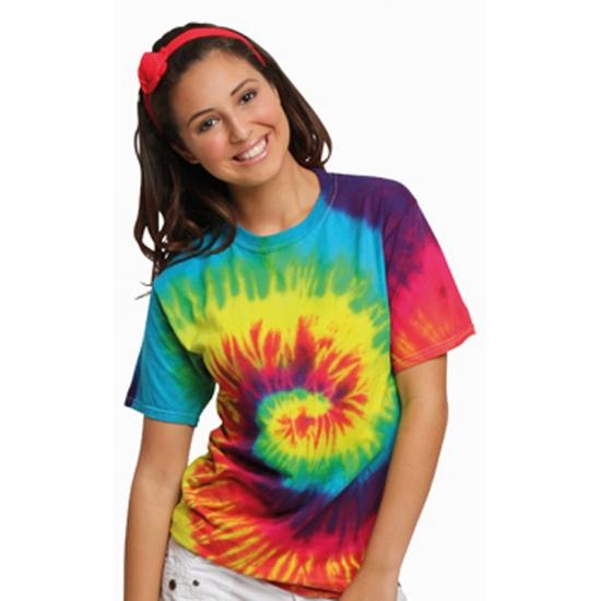 Hippie verkleedkleding shirt rainbow