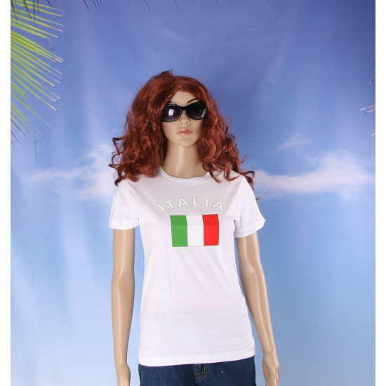 Italiaanse vlaggen t shirt voor dames