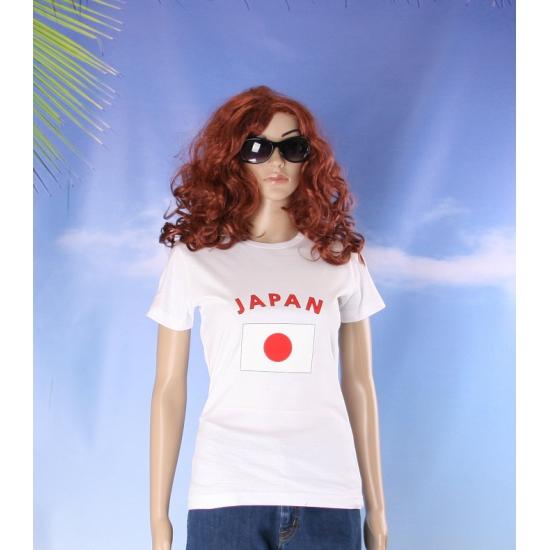 Japanse vlaggen t shirt voor dames