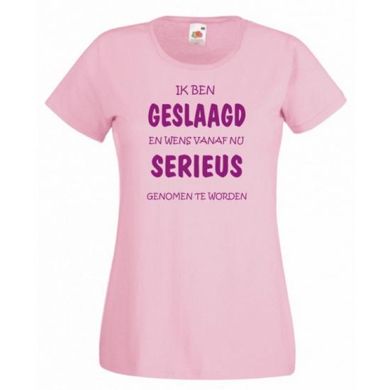 Kado shirt roze geslaagd voor dames