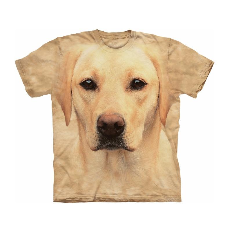 Kinder honden T shirt blonde Labrador