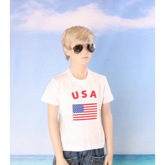 Kinder shirts met vlag van Amerika