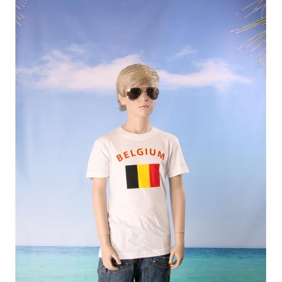 Kinder shirts met vlag van Belgie