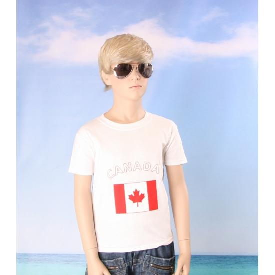 Kinder shirts met vlag van Canada