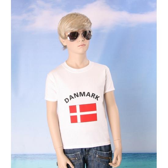 Kinder shirts met vlag van Denemarken