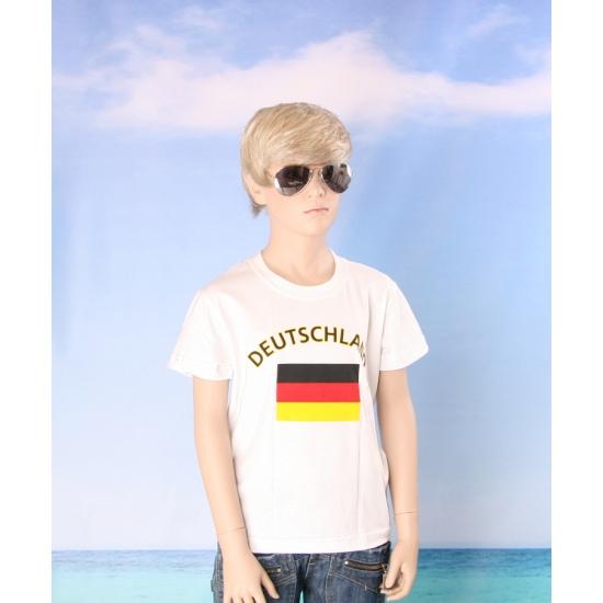 Kinder shirts met vlag van Duitsland