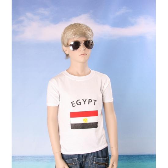 Kinder shirts met vlag van Egypte