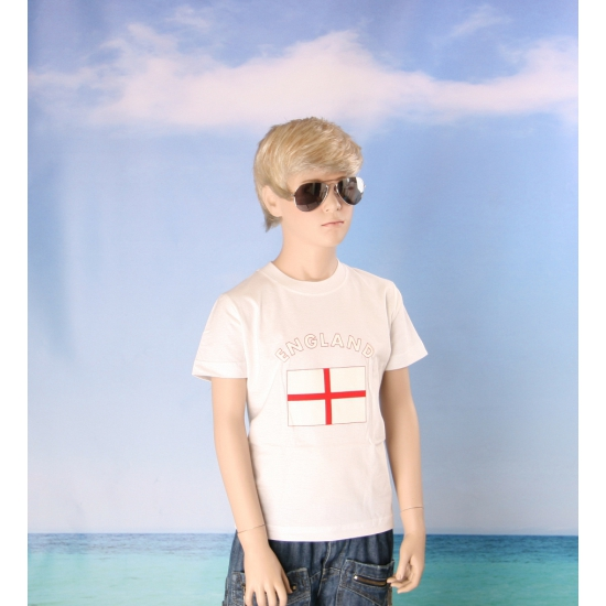 Kinder shirts met vlag van England