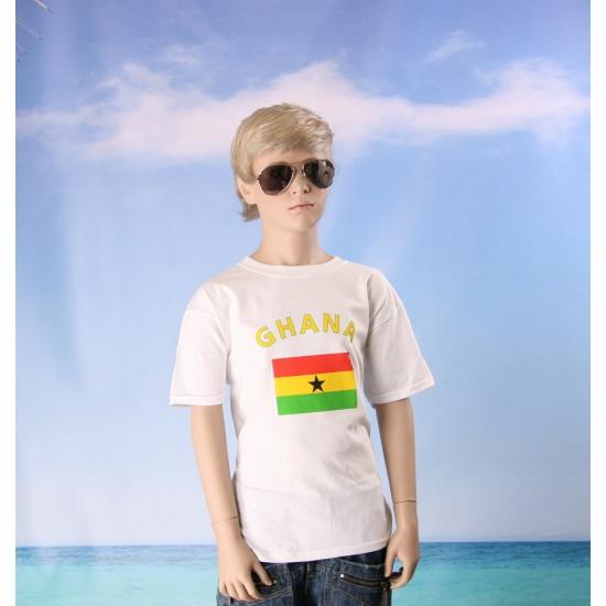 Kinder shirts met vlag van Ghana