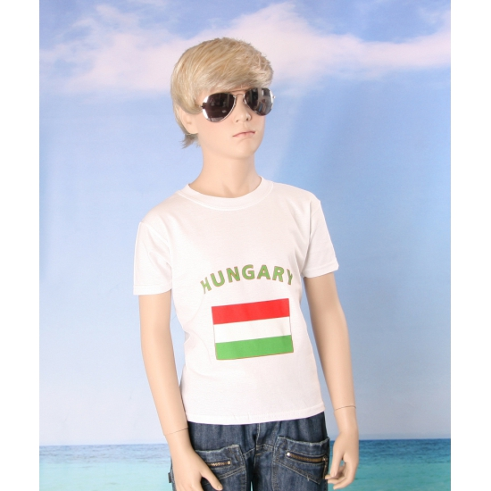 Kinder shirts met vlag van Hongarije