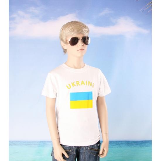 Kinder shirts met vlag van Oekraine