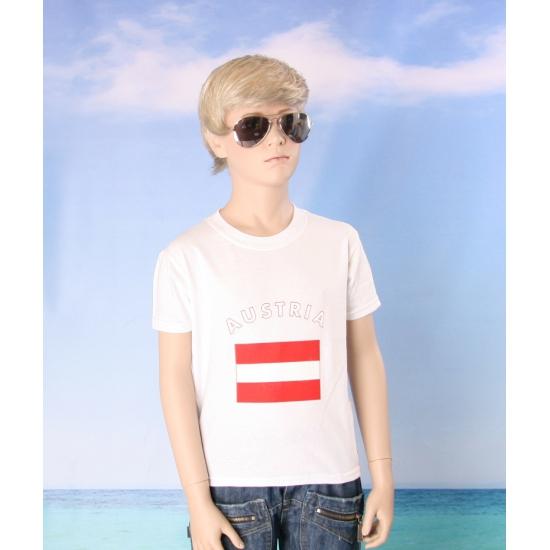 Kinder shirts met vlag van Oostenrijk