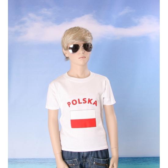 Kinder shirts met vlag van Polen