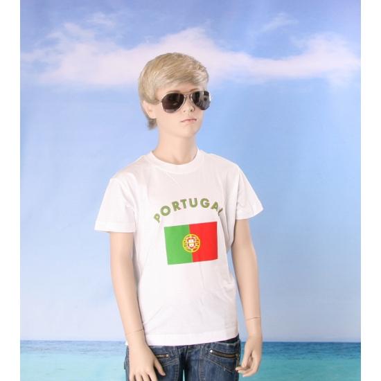 Kinder shirts met vlag van Portugal