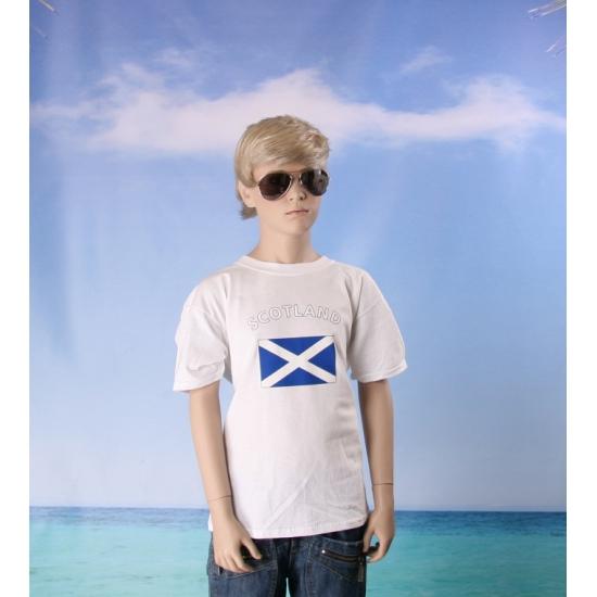 Kinder shirts met vlag van Schotland