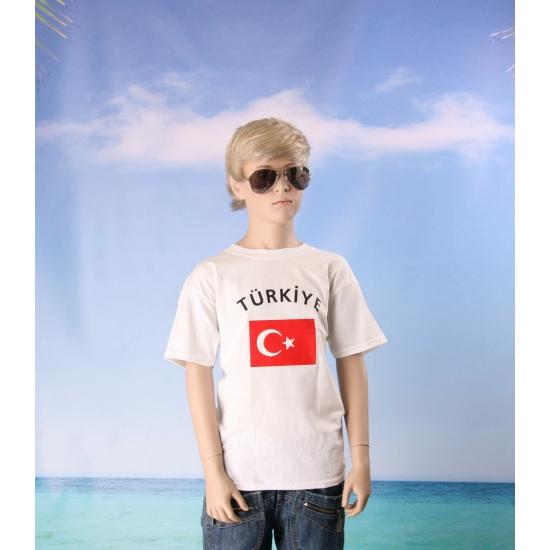 Kinder shirts met vlag van Turkije