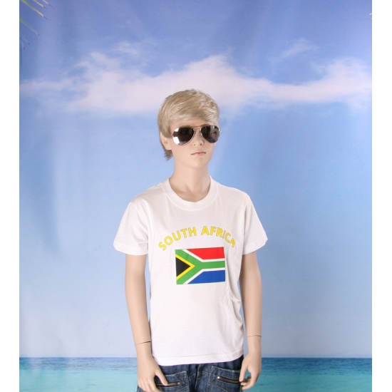 Kinder shirts met vlag van Zuid Afrika