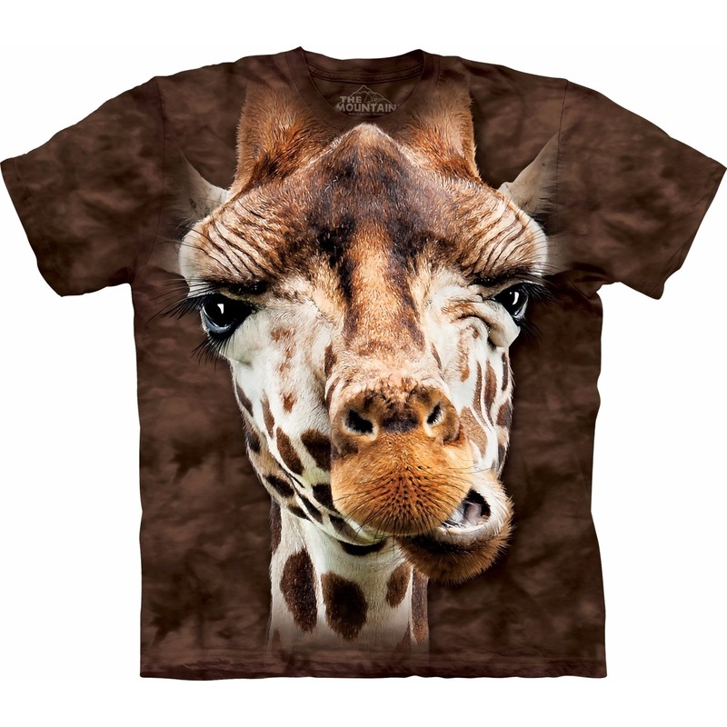 Kinder T shirt giraffe bruin