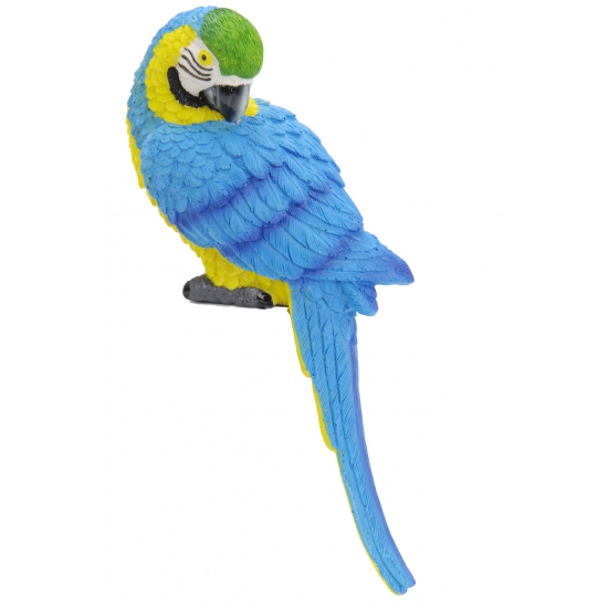 Kleine blauwe deco papegaai