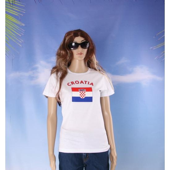 Kroatie vlaggen t shirt voor dames