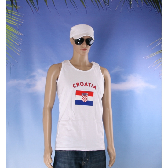 Kroatie vlaggen tanktop/ t shirt