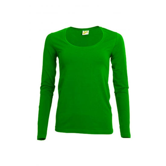 Lange mouwen lime dames shirt