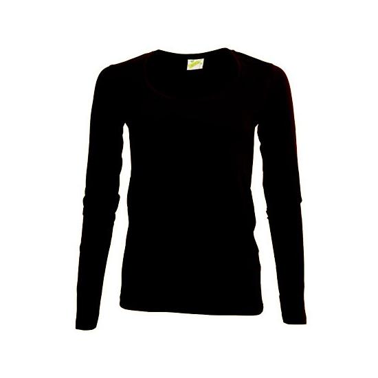 Lange mouwen zwart dames shirt