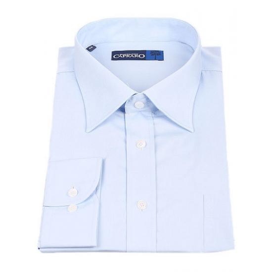Lichtblauw heren overhemd met lange mouw en body fit