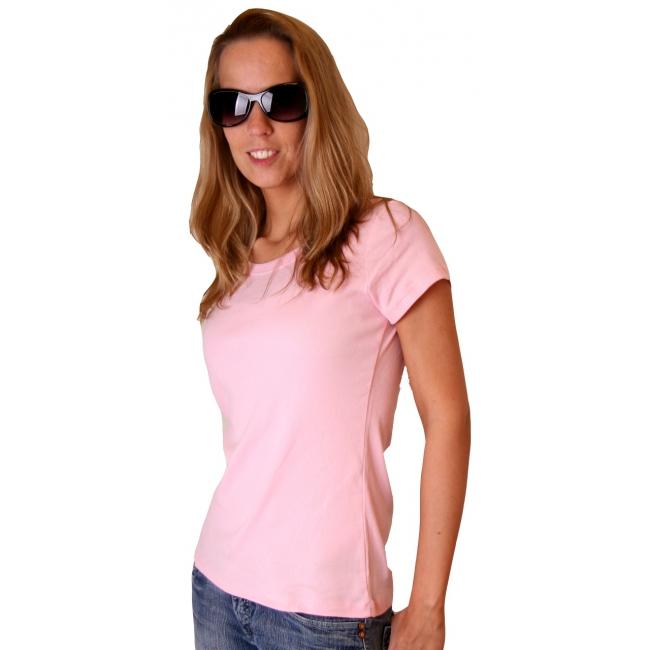 Lichtroze dames t shirt Bella