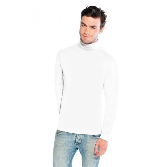 Luxe col t shirt wit voor heren