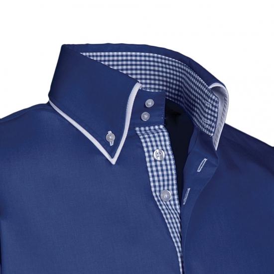 Luxe overhemd blauw Giovanni Capraro