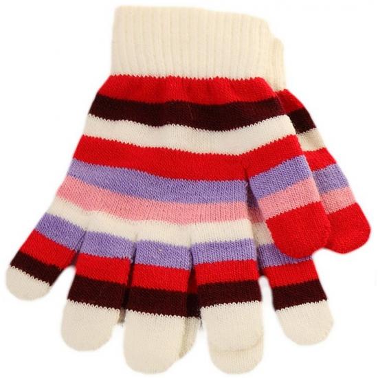 Meiden handschoentjes gestreept