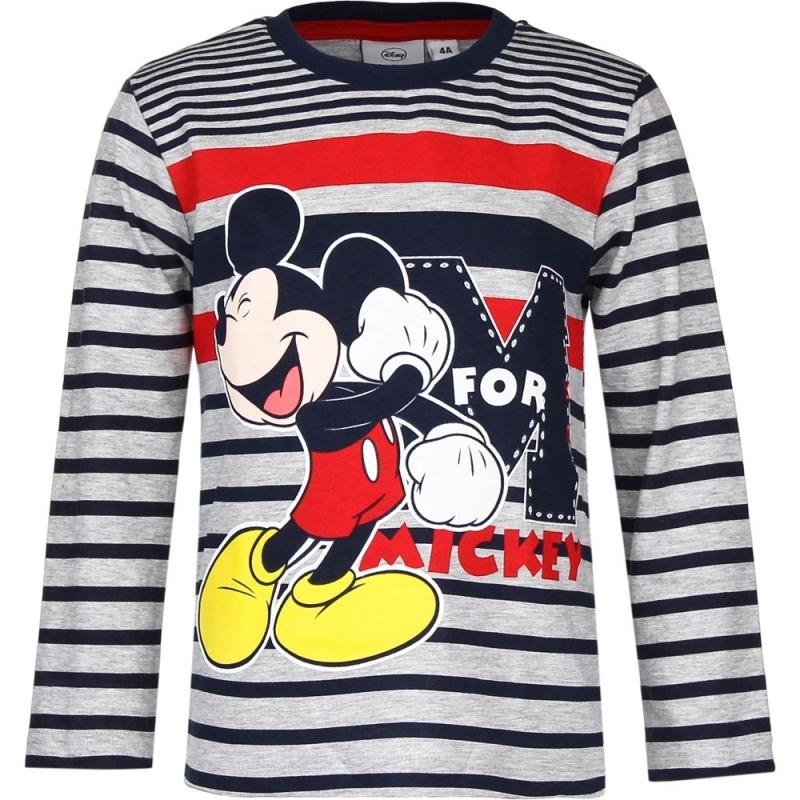 Mickey Mouse t shirt blauw/grijs voor jongens