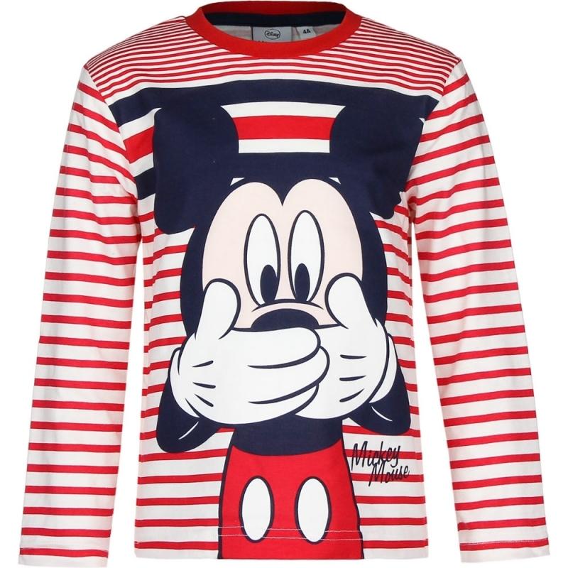 Mickey Mouse t shirt rood/wit voor jongens