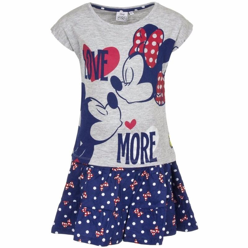Minnie Mouse blauw rokje met shirt meisjes
