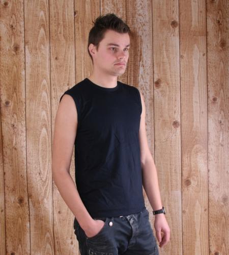 Mouwloos Alan Red t shirt navy