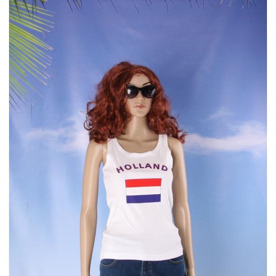 Mouwloos shirt met vlag Holland print voor dames