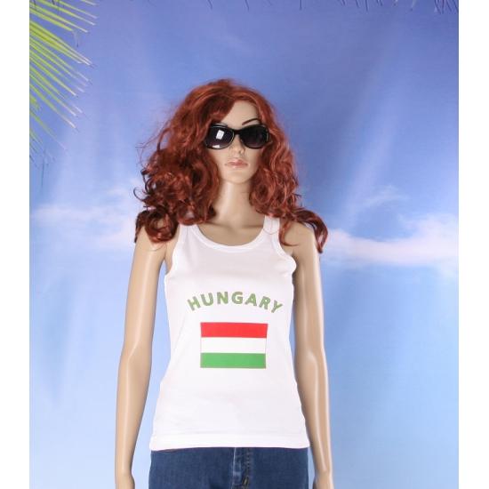 Mouwloos shirt met vlag Hongarije print voor dames