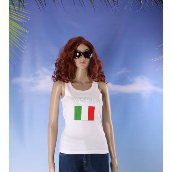 Mouwloos shirt met vlag Italië print voor dames