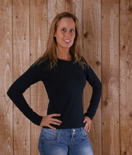 Navy blauw Alan Red t shirt lange mouw Rosy