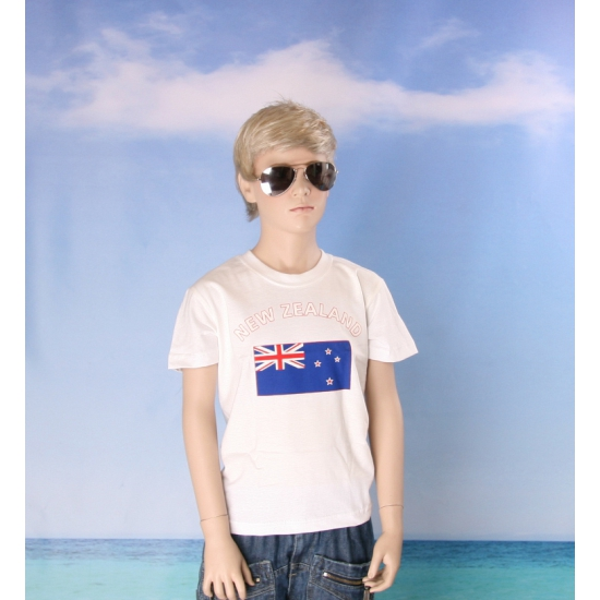 Nieuws Zeelands vlaggen t shirt voor kinderen