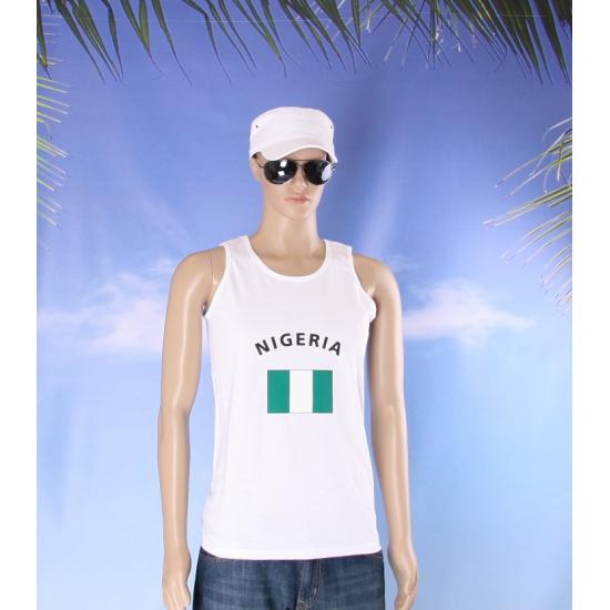 Nigeria vlaggen tanktop / t shirt