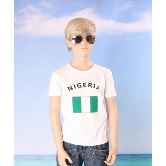 Nigeriaans vlaggen t shirt voor kinderen
