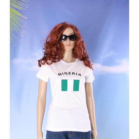 Nigeriaanse vlaggen t shirt voor dames