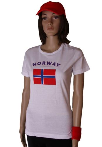 Noorse vlaggen t shirt voor dames