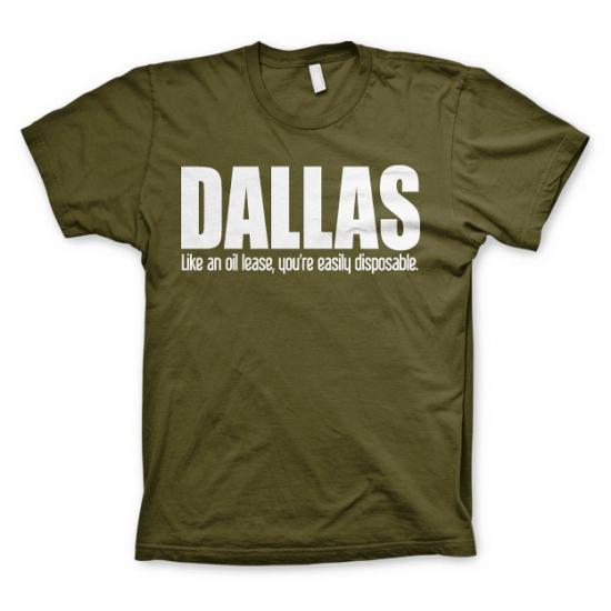 Olijf groen Dallas t shirt