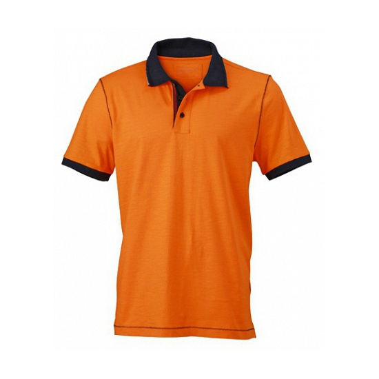 Oranje dames poloshirt met korte mouwen