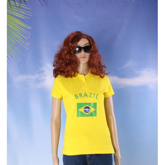 Poloshirt met vlag Brazilie print