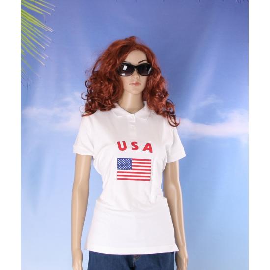 Poloshirt met vlag USA print